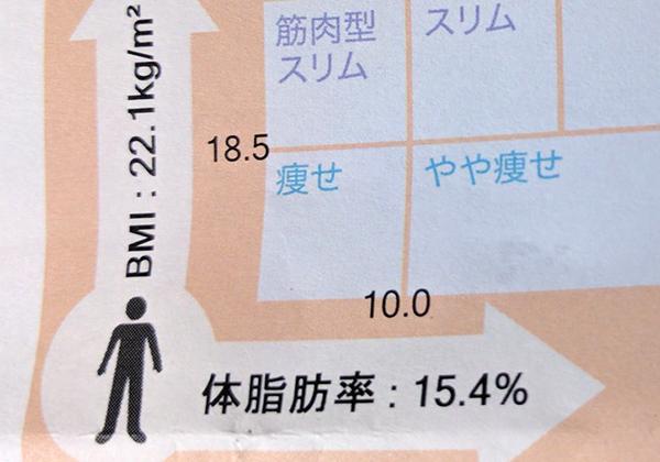 体脂肪率15%