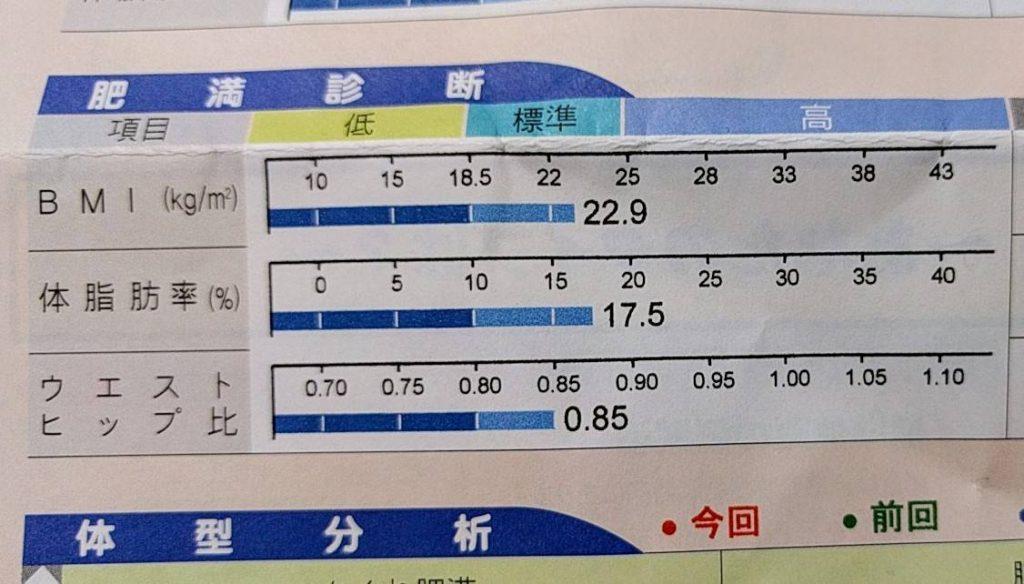 体脂肪率 トレーニング21日目