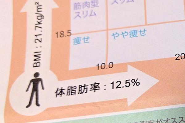 体脂肪率12%
