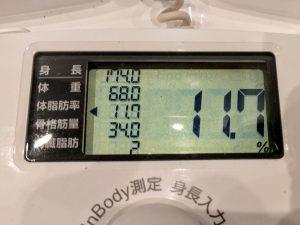 体脂肪率11%