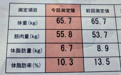 体脂肪率10%